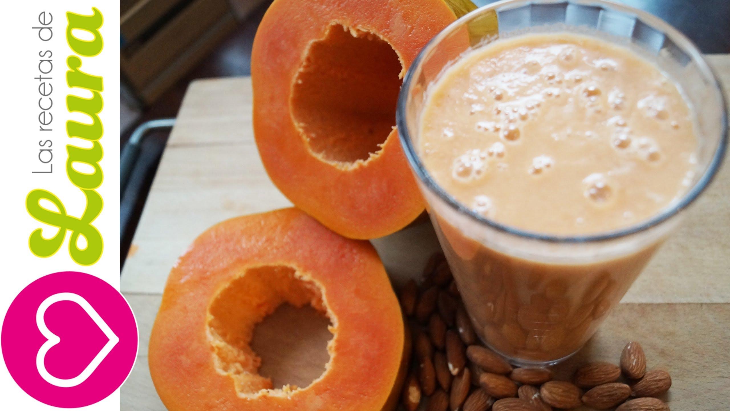 Jugo de papaya para bajar de peso