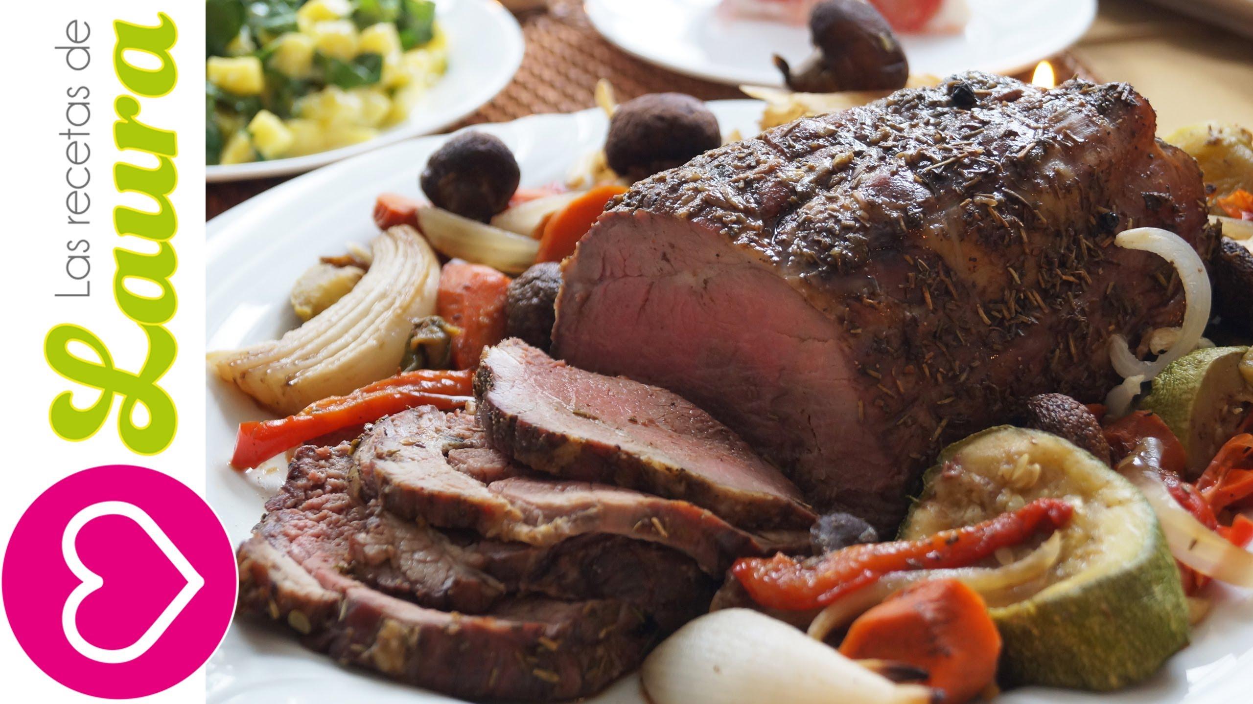 Como hacer carne al horno facil y jugosa comida - Comida para navidad facil ...