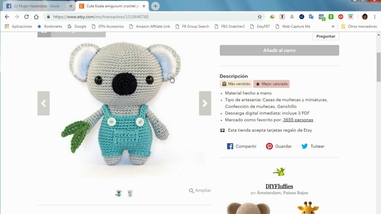 Como comprar Patrones de Crochet en ETSY | Mujer Hacendosa